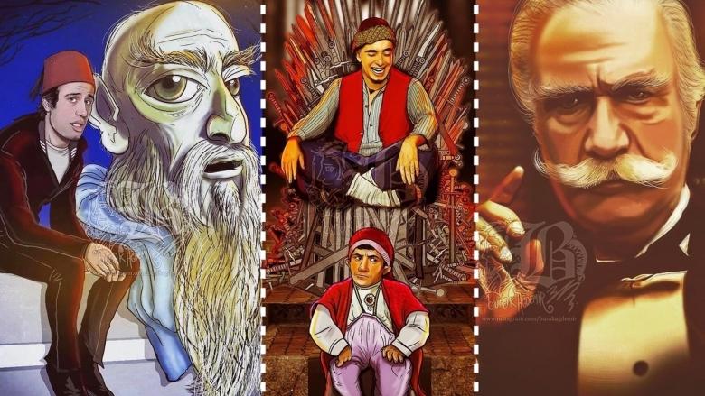 Türk Sanatçı Burak Ağdemir, Türk Sineması Efsanelerini Müthiş Birer İllüstrasyona Dönüştürüyor